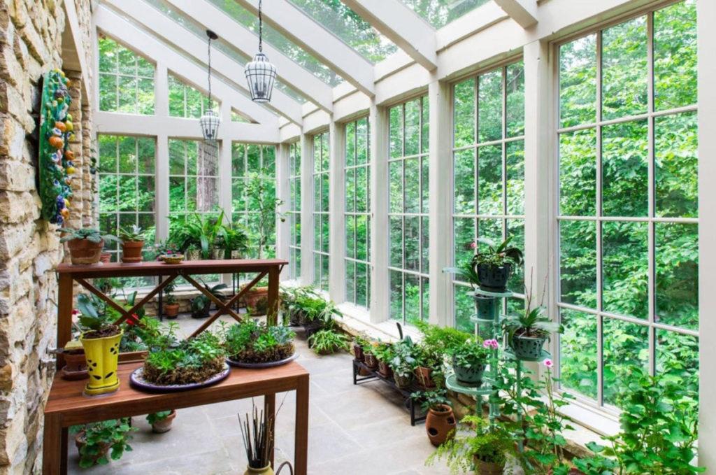 пластиковые окна для зимнего сада